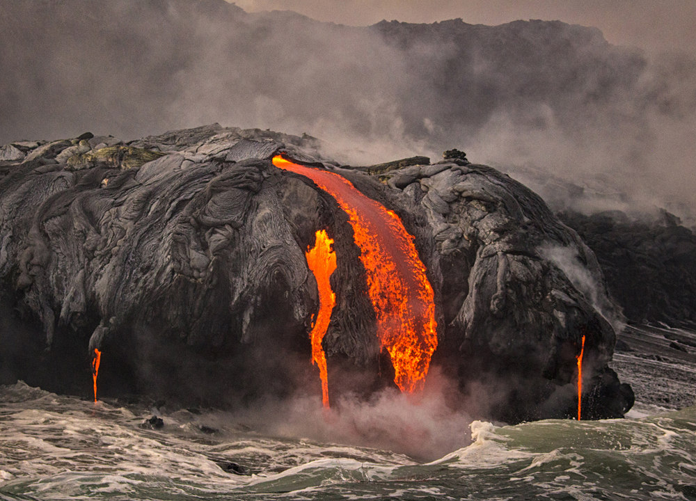 Lava Flow into Ocean_1925adj6x8crop2