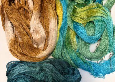 Kim Thompson - Dyed silk, ready to weave 2019